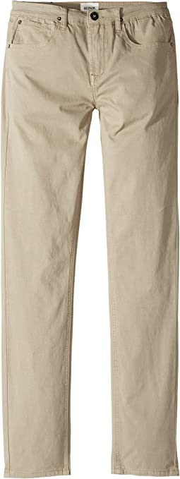 Hudson Kids - Jagger Slim Straight Twill in Kelp (Big Kids)
