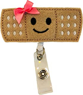 Bandaid Badge Reel Holder – Nursing Name Badge Holder – Felt Badge Reel for Nurses, Students & Teachers – Cute & Practical ID Badge Holder – Alligator Clip – Easy to Use & Resistant