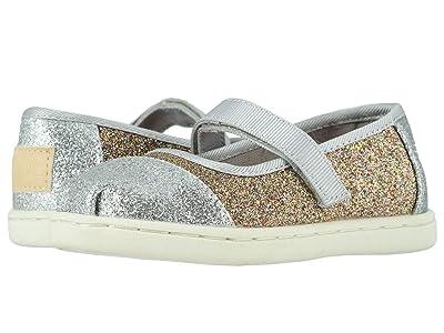 TOMS Kids Mary Jane (Infant/Toddler/Little Kid) (Silver/Gold Iridescent Gimmer) Girls Shoes