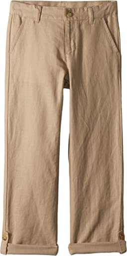 Janie and Jack Linen Roll-Up Pants (Toddler/Little Kids/Big Kids)