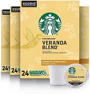 Starbucks Blonde Roast K-Cup Coffee Pods — Veranda Blend for Keurig Brewers — 4 boxes (96 pods total)