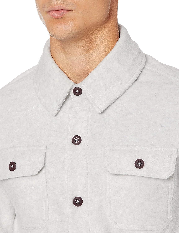 Essentials Mens Long-Sleeve Polar Fleece Shirt Jacket