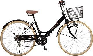 voldy.collection(ボルディ・コレクション) 26インチ折りたたみシティサイクル シマノ6段変速 カゴ・カギ・ライト標準装備 VFC-001 全10色