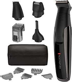 Remington PG6171 The Crafter: Beard Boss Style and Detail Kit, Beard Trimmer, Grooming Set (11 Pieces), Platinum