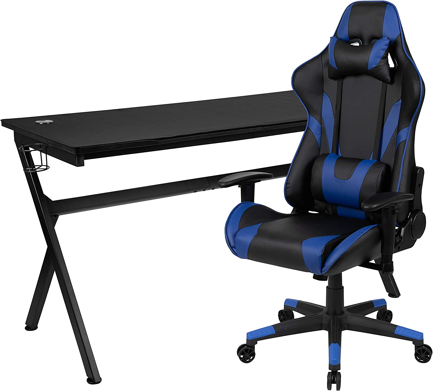 Flash Furniture Gaming Desk New Shipping Free Shipping trend rank and Black Blue Reclining Chai