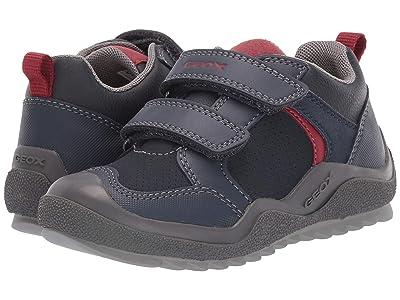 Geox Kids Jr Artach 2 (Little Kid) (Navy/Red) Boys Shoes