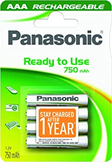 Panasonic Evolta 1600 Cycle  AAA Rechargeable Battery 750 mAh stay-charged