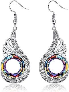 Sllaiss Christmas Gifts For Women Earrings for Women Crystals From Swarovski Nirvana of Phoenix Dangle Earrings Birthday G...