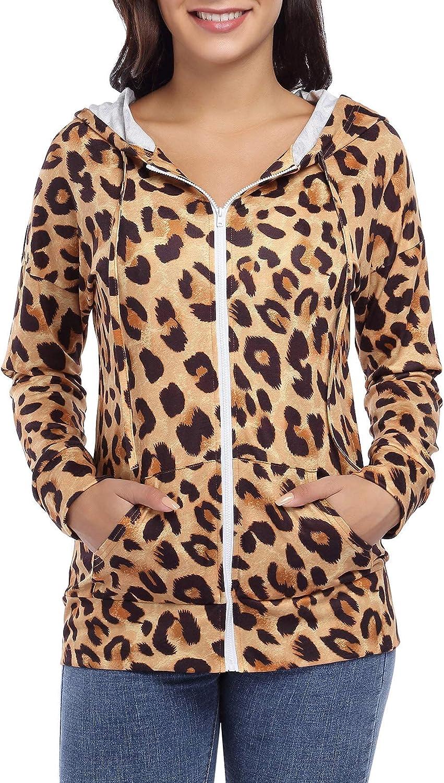 Women Zip Up Hoodies Lightweight Hooded Sweatshirt Casual Long Sleeve Soft Cozy Jacket with Pockets