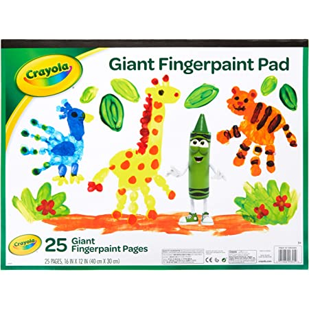 """Crayola Giant Fingerpaint Paper, 25 Pages, 16"""" x 12"""" (99-3405) , White"""