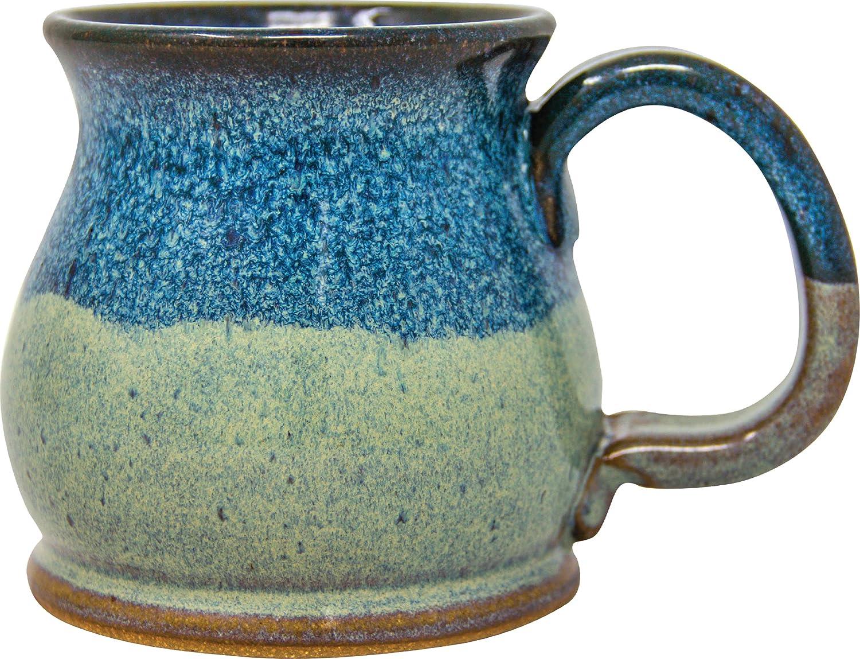 SHS Collection USA Handmade 12oz Mug Coffee Potbelly Max 62% OFF Tuxe Spasm price Denim