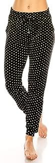 ALWAYS Women Stretch Velvet Joggers - Premium Soft Velour Warm Winter Printed Patterned Sweatpants Pants