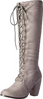 حذاء Michael Antonio Meer-sue متوسط الساق للسيدات، رمادي، 6. 5 M US