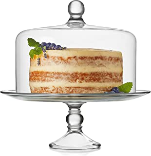 کیک لیسبیب سلنی شیشه ای با گنبد