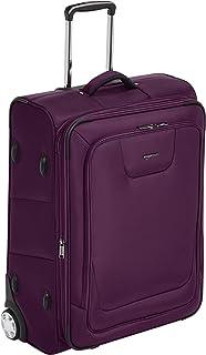 Amazon Basics Valise extensible souple à roulettes avec serrure TSA - 66 cm, Violet