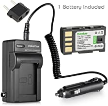 Kastar Battery and Charger Replacement for JVC Everio GZ-MS120 GZ-MS120AU GZ-MS120BU GZ-MS120RU GZ-MS130 GZ-MS100 GZ-MS90 GZ-HD300 GZ-HD320 GZ-HM1 GZ-HM200 GZ-HM400 GZ-MG630 GZ-MG730 Camcorder