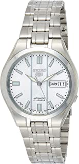 Seiko 5 Automatic Men's Silver Dial Stainless Steel Band Watch - SNKG31J1