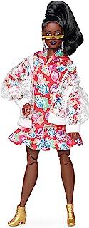 Barbie GHT94 BMR 1959 Streetwear Signature ruchoma lalka oksydowana, z przezroczystą kurtką bomberką i suknią z kapturem, ...