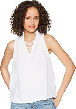Double Gauze Embroidered Swing Tank