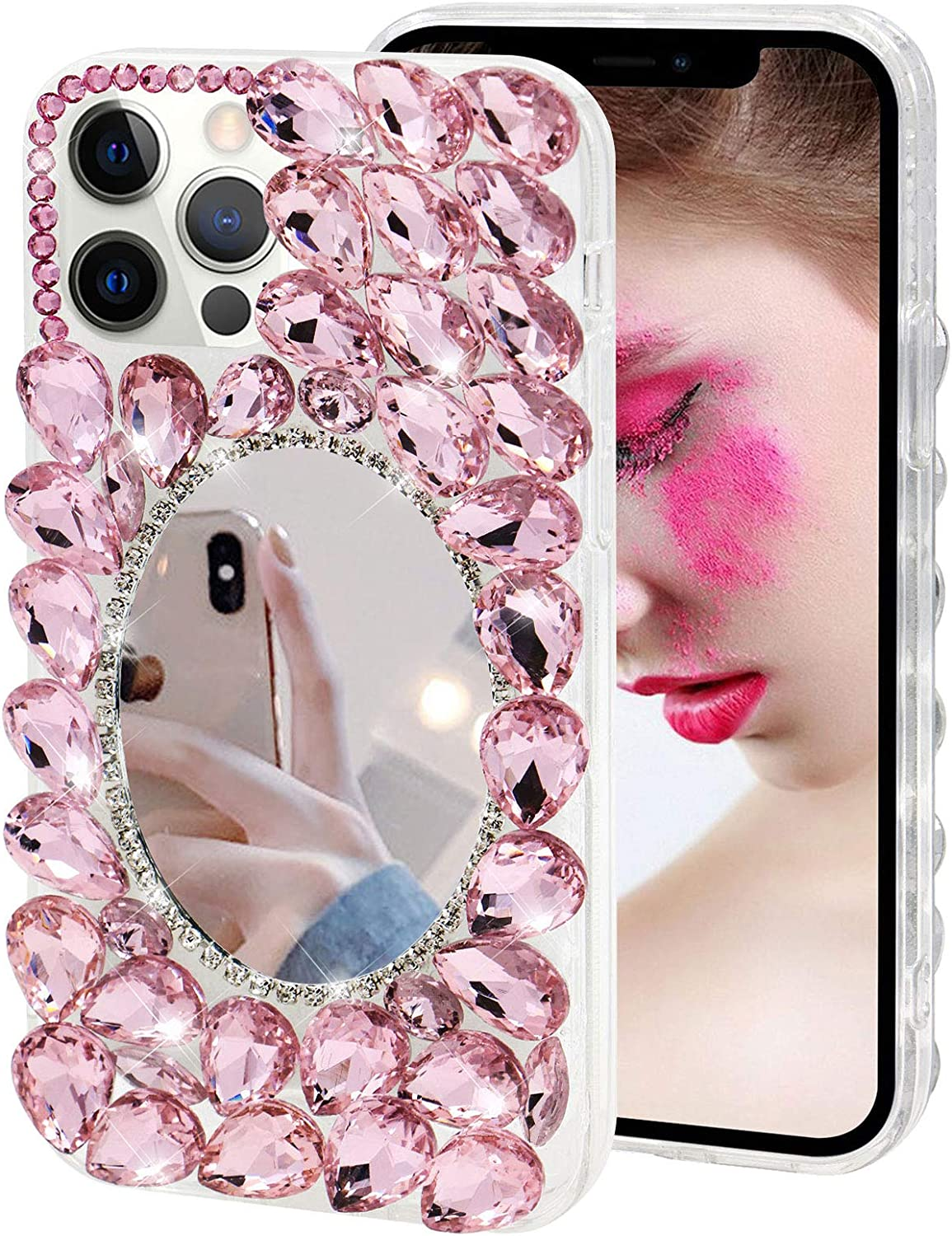 Compatible Translated with iPhone 11 Pro Mirror Case Makeup Max Tampa Mall Rhinestone