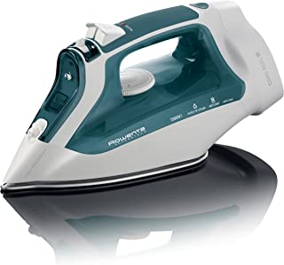 Rowenta DW2191 Access Steam 1500-Watt Cord Reel Steam Iron Stainless Steel Soleplate, 300-Hole, Green