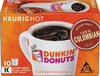 Dunkin' Donuts Medium Roast 100% Colombian Coffee, 60 K Cups for Keurig Coffee Makers