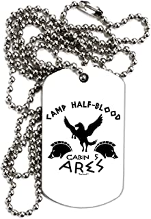 TooLoud Camp Half Blood Cabin 5 Ares Adult Dog Tag Chain Necklace
