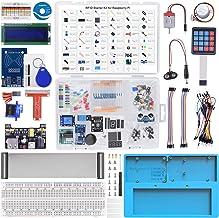 Longruner RFID Starter Kit para Raspberry Pi RAB Holder, Breadboard, Servo, Motor Paso a Paso, 215 artículos, 21 proyectos para Raspberry Pi 4 B 3 B + A + 2 1 Zero W con Aprendizaje electrónico LK86