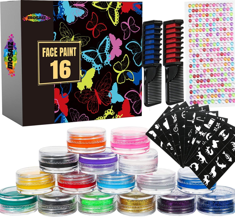 Mosaiz Halloween National uniform free shipping Face Makeup Paint half Kit P