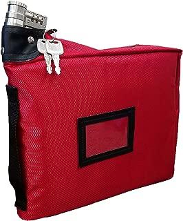 Prescription Medication Bag Combination Keyed Lock Travel Case (Red)