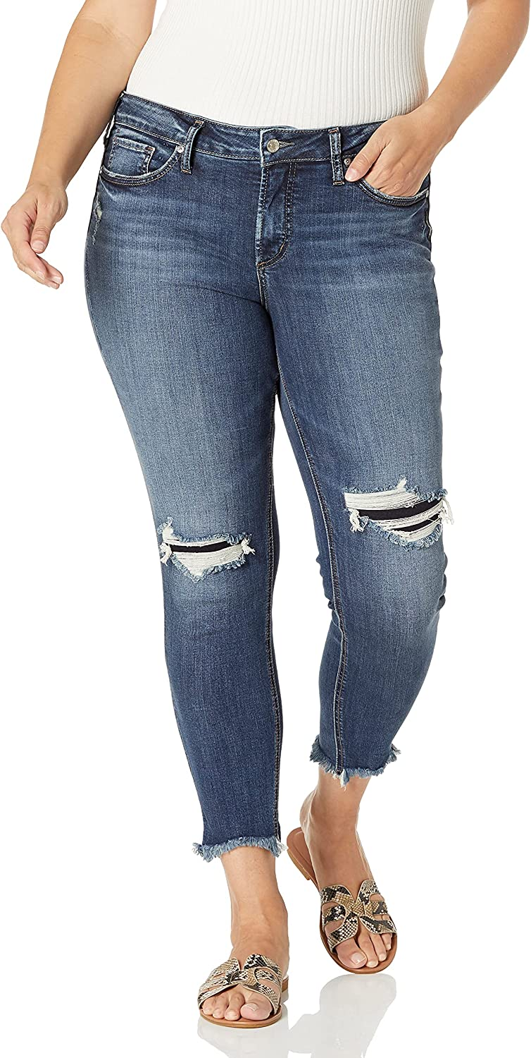 Silver Jeans All stores are sold Co. Women's Plus Mid Suki Skinny Discount is also underway Rise Size