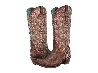 Corral Boots C3467 (Cognac) Cowboy Boots