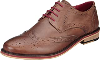 Amazon Brand - Symbol Men's Leather Formal Brogue shoes