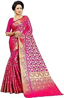 8228e29fd8 Jay Fashion women's emblished kanjivaram banarasi silk saree with blouse pc
