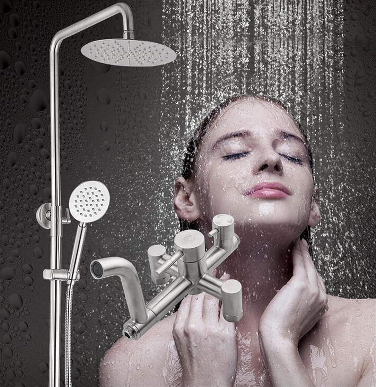 NUO-Z Badezimmer-Thermostatmischer-Duschventil-quadratischer Regen-Fall-Kopf und Handbrause-System
