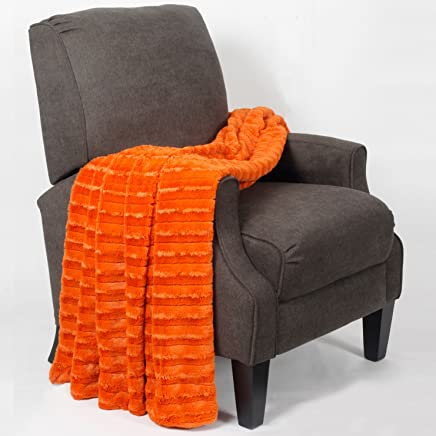 featured product BOON Derby Double Sided Faux Fur Throw,  50 x 60,  Burnt Orange