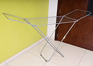 Royalford Large Folding Clothes Airer – Stainless Steel Drying Space Laundry Durable Metal Drying Rack Multifunctional Air...