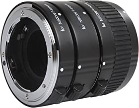 Movo Photo AF Macro Extension Tube Set for Nikon DSLR Camera with 12mm, 20mm & 36mm Tubes (Metal Mount)