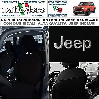 COPPIA COPRISEDILI Fiat 500 Su MISURA Fodere Foderine Solo Anteriori Rosso