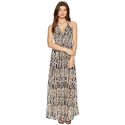 BB Dakota Willow Printed Maxi Dress (Black) Women