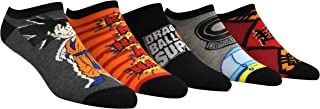 Dragon Ball Super Socks (5 Pair) - (1 Size) Dragon Ball Z Super Goten Low Cut Socks Women & Men's