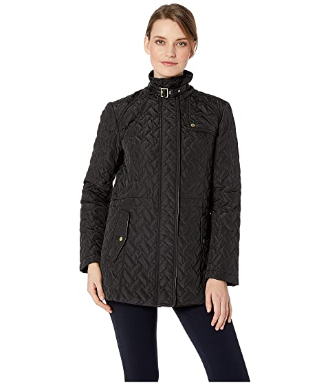 Ambiente cole haan single-breasted plaid coat