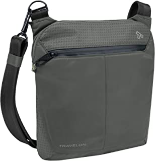 Travelon Anti-Theft Active Small Crossbody Messenger Bag, Charcoal (Black) - 43126 530