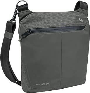 Travelon Anti-Theft Active Small Crossbody Messenger Bag, Charcoal (Black) - 43126 530