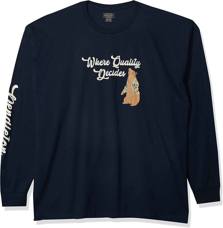 Pendleton Men's 最安値挑戦 The 信用 Dude Sleeve Long T-Shirt Bear
