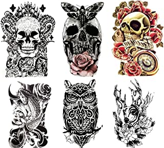 """Large Non-Toxic Temporary Tattoos 