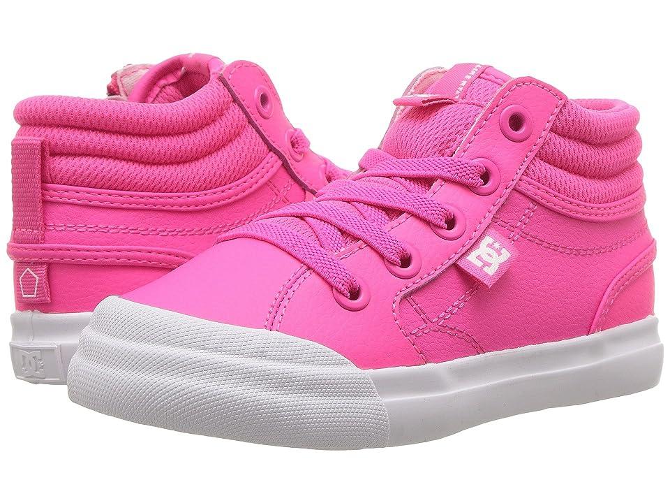 DC Kids Evan Hi (Toddler) (Pink) Girls Shoes