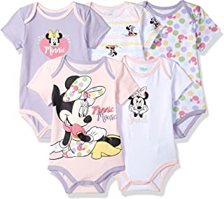 Baby Girls Minnie Mouse 5 Pack Bodysuits