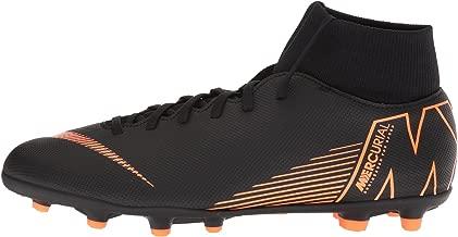 Nike Kids' Mercurial Superfly 6 Club MG Soccer Cleats (2.5, Black/Orange)
