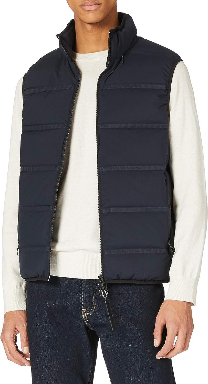 Armani Exchange Down Vest Logo Tape Chaleco de Pluma. para Hombre